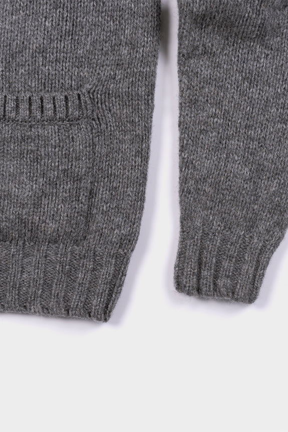 Seven.Stones Mens Knit Cardigan Grey