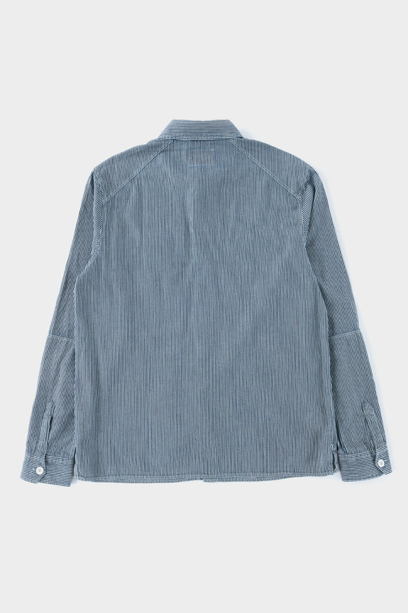 Albam Carpenters Work Shirt Indigo Stripe