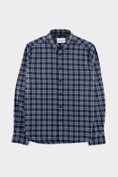 Albam Easy Shirt Charcoal Check
