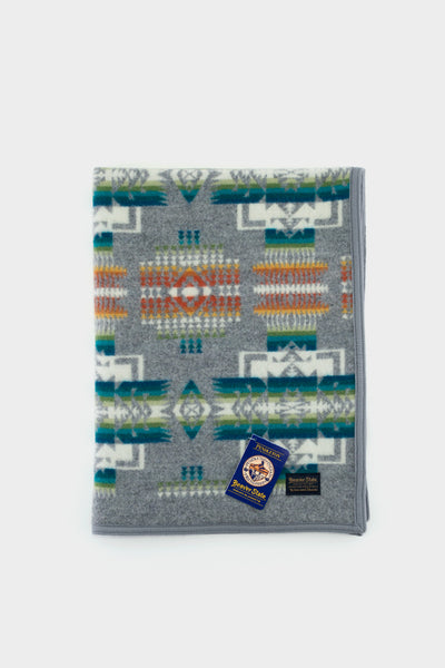 Pendleton Muchacho Crib Blanket Chief Joseph Grey