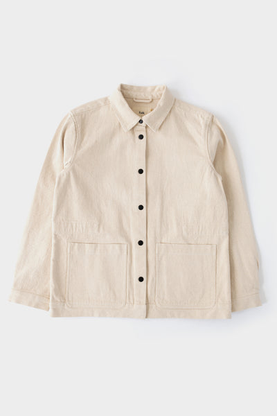 Folk Womens Painters Jacket Ecru Twill