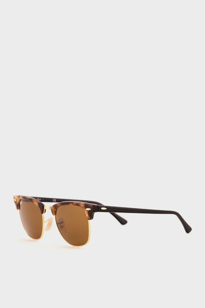 Clubmaster Fleck Brown Lens -