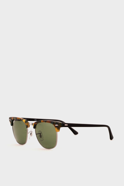Clubmaster Fleck Green Lens -