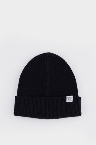 Cotton Watch Beanie Black