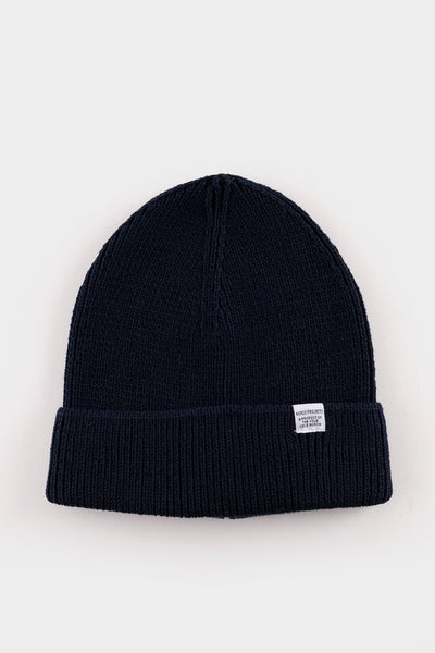 Norse Projects Cotton watch Beanie Dark Navy