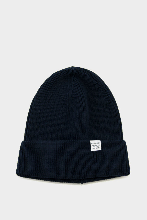 f7d8b534d Norse Projects Cotton Watch Beanie Dark Navy – academyclothes