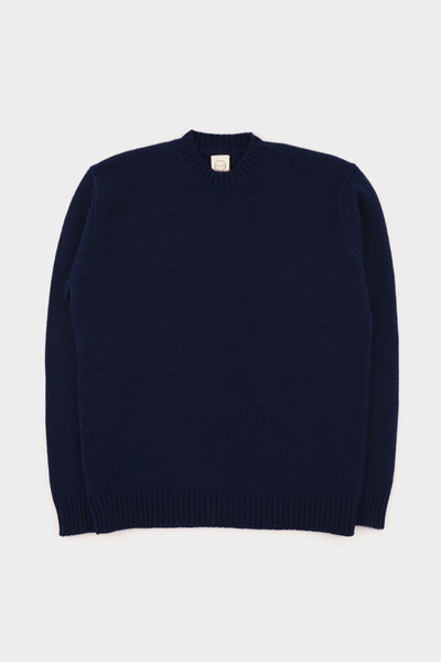 Country Of Origin Light Navy Plain Crew
