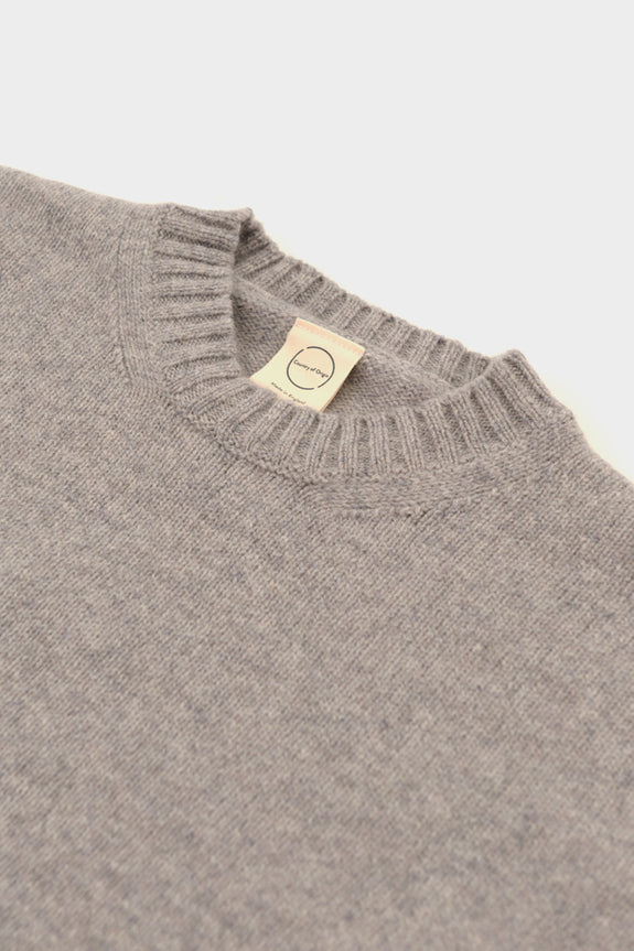 Country Of Origin Light Grey Plain Crew