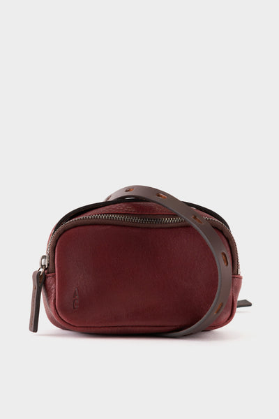 Ally Capellino Leila Tiny Calvert Leather Cross Body Bag - Plum