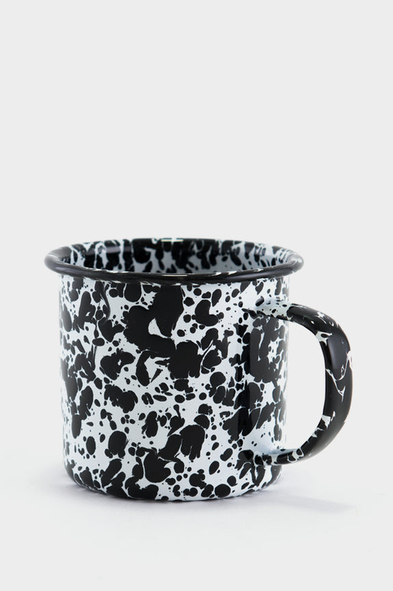 Crow Canyon Marbled Enamel Mug - Black / White