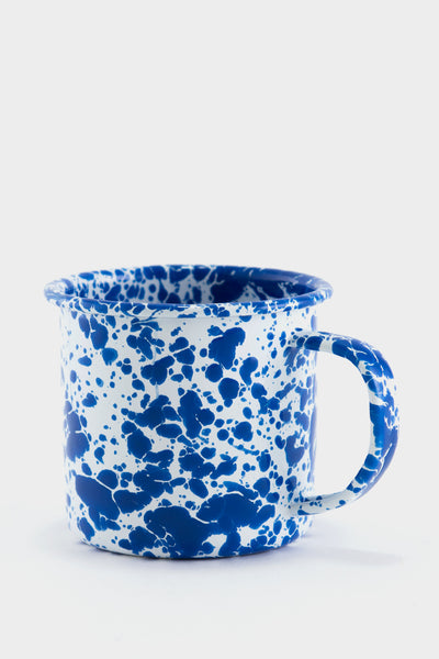 Crow Canyon Marbled Enamel Mug - Blue / White