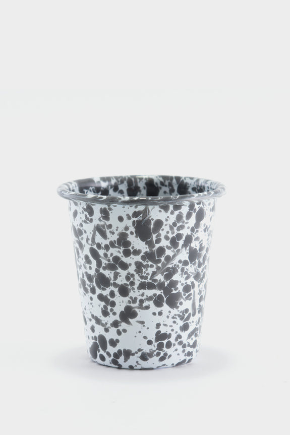 Crow Canyon Marbled Enamel Short Tumbler - Grey / White