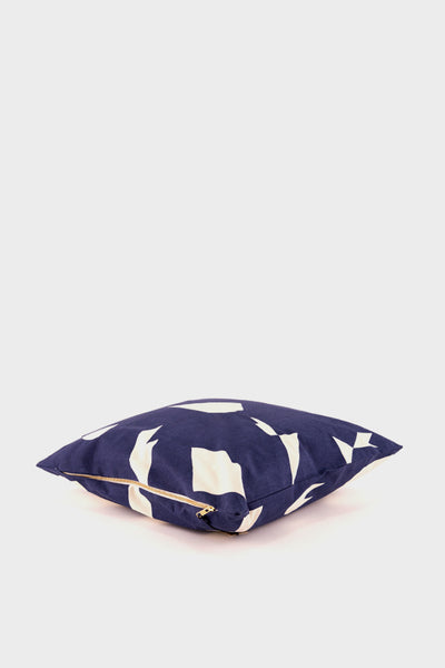 Ferm Living Cut Cushion: Dark Blue -