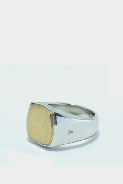 Tom Wood Cushion Ring Silver Gold