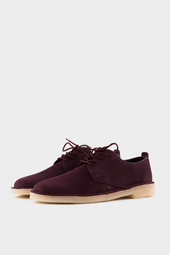 Clarks Bordeaux London Sued Desert Men's srCthdoBQx