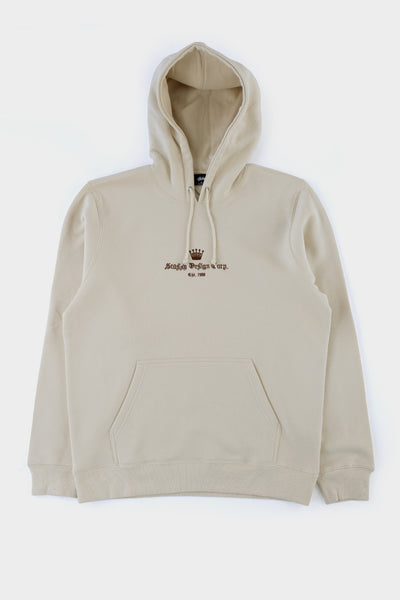 Stussy Old English App Hoodie Cement