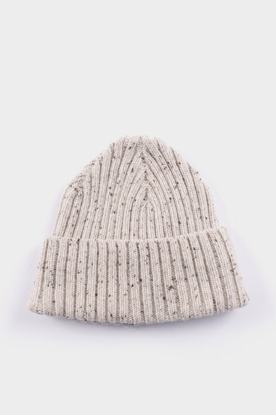 Seven.Stones Donegal Ribbed Beanie Natural Grey