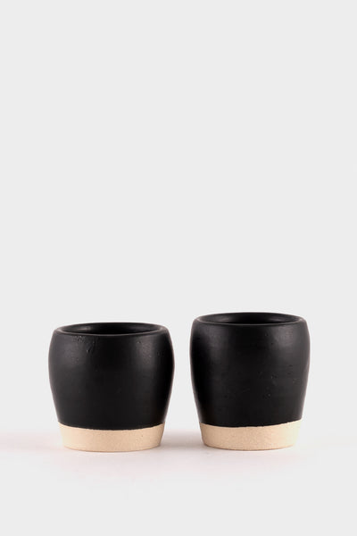 Dor & Tan 3oz Espresso Cups - Matte Black