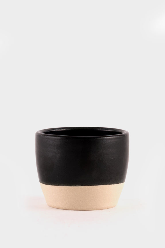 Dor & Tan Tea Bowl - Matte Black
