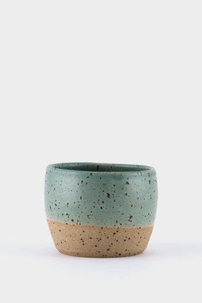 Dor & Tan 5oz Tea Bowl - Celadon & Speckle