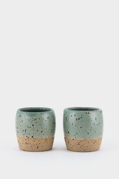 Dor & Tan 3oz Espresso Cups - Celadon Speckle