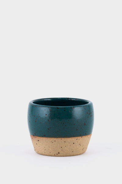 Dor & Tan 5oz Tea Bowl - Marran Green & Speckle