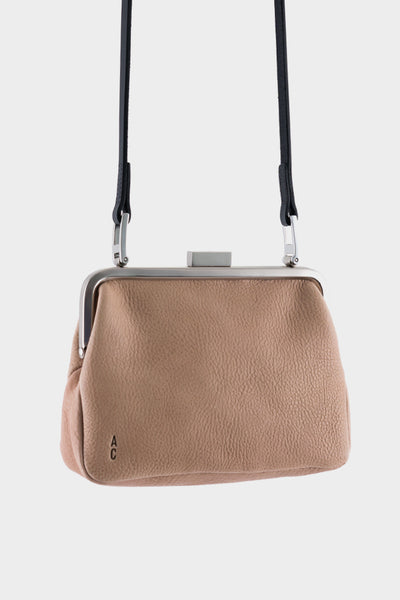 Ally Capellino Dusty Calvert Leather Mini Frame Bag - Clay
