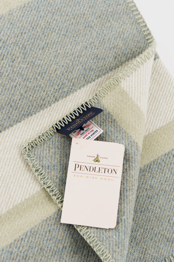 Pendleton Washable Eco-Wise Wool Blanket Sage -  - 2