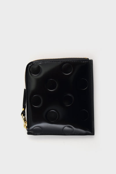 Zip Wallet Emboss Polka Black -  - 1
