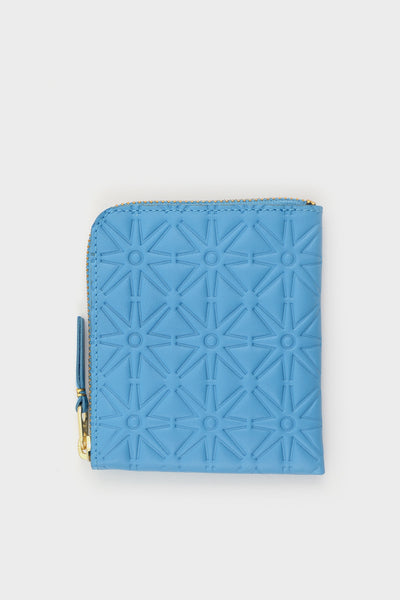 Zip Wallet Emboss Blue -  - 1