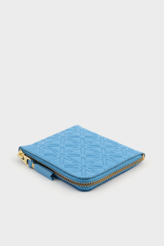 Zip Wallet Emboss Blue -  - 2
