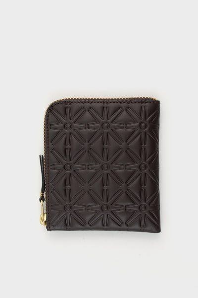 Zip Wallet Emboss Brown -  - 1