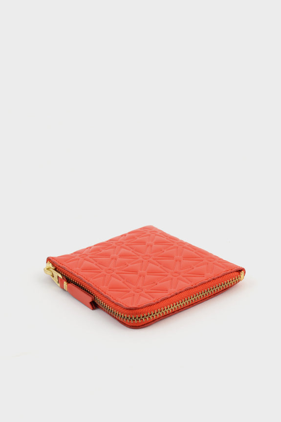 Zip Wallet Emboss Orange -  - 2
