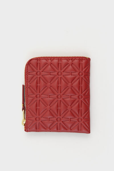 Zip Wallet Emboss Red -  - 1