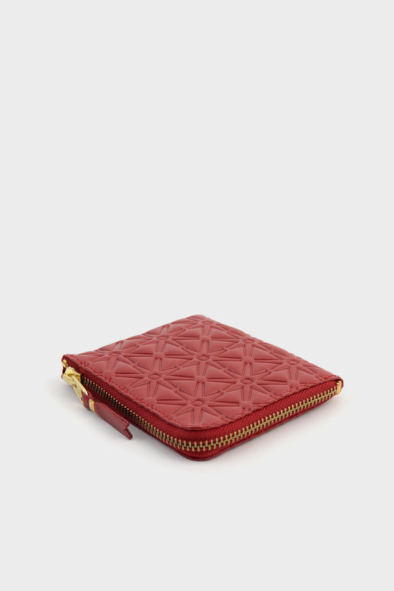Zip Wallet Emboss Red -  - 2