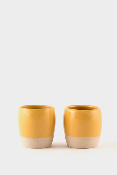 Dor & Tan 3oz Espresso Cups - Gorse Yellow