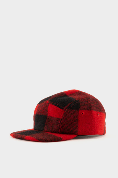 Filson 5 Panel Cap - Red Black