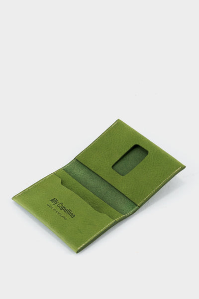 Ally Capellino Fletcher Leather Card Holder - Green