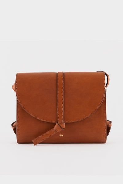 Folk Womens Santo Leather Bag- Tan