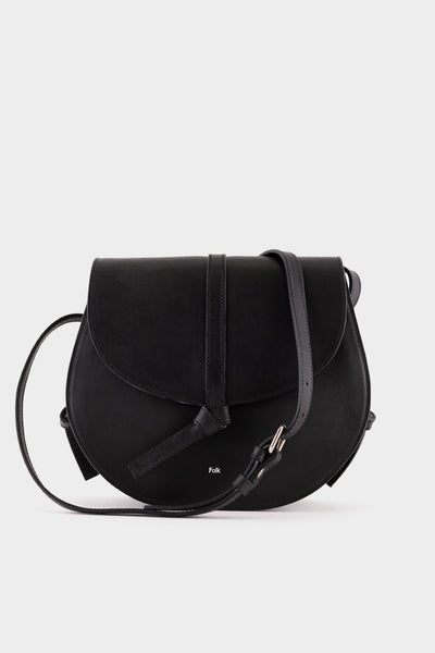 Folk Womens Alek Leather Bag- Black