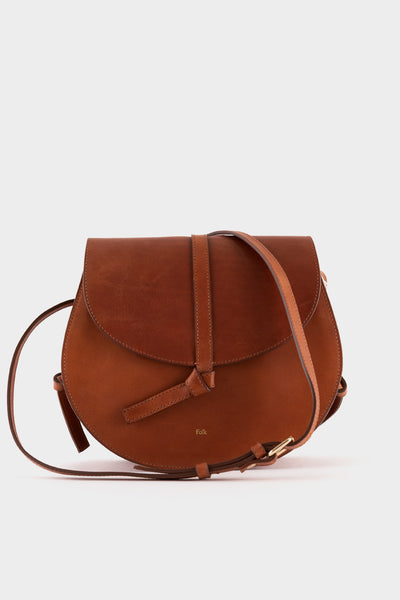 Folk Womens Alek Leather Bag- Tan