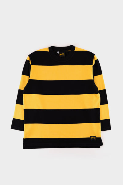 Stan Ray L/S Football Tee Revival Black / Book Yellow
