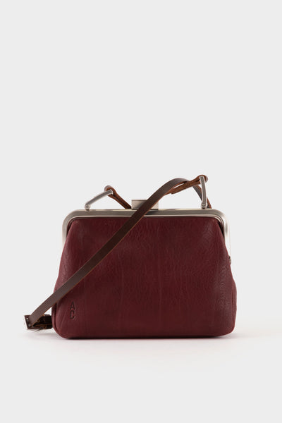Ally Capellino Fox Calvert Leather Frame Bag Small - Plum