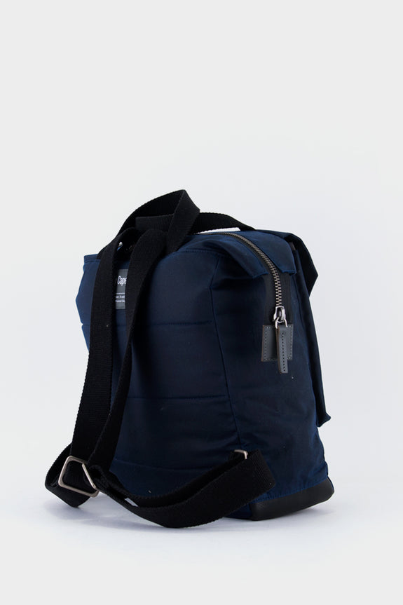 Ally Capellino Frances Waxed Cotton Rucksack - Navy