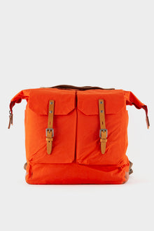 Ally Capellino Frank Waxed Cotton Rucksack - Flame Orange