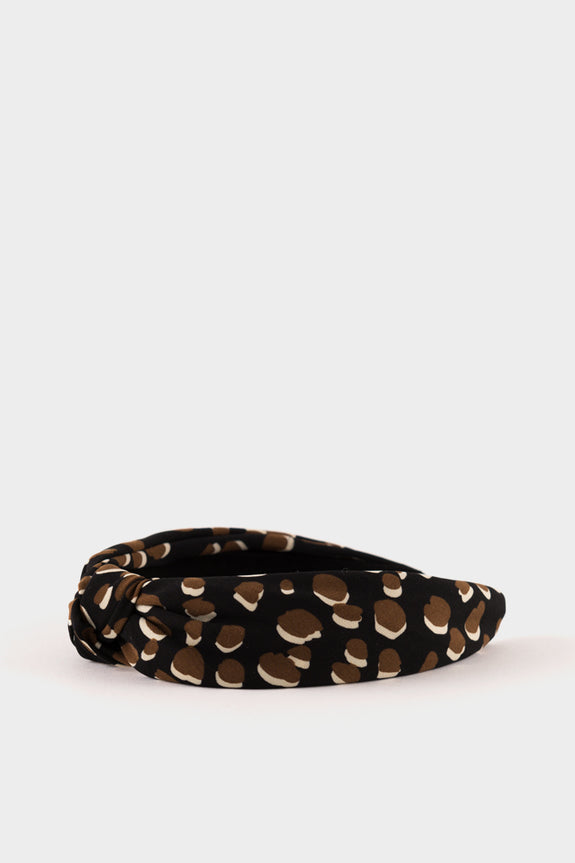 Animal Spot Headband Black & Beige