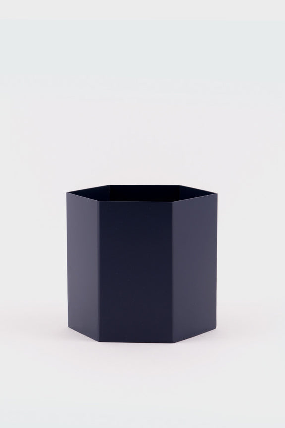 Ferm Living Large Hexagon Blue Pot -
