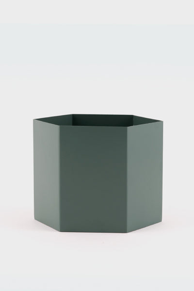 Ferm Living X Large Hexagon Pot Dusty Green -