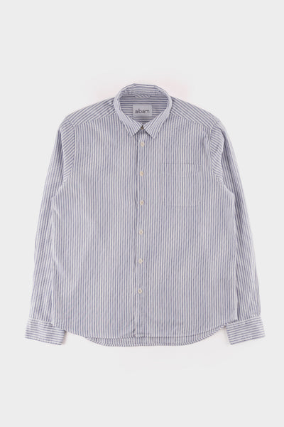 Albam Stripe Hockney Shirt White Blue