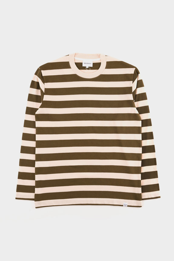 Norse Projects Johannes Rugby Stripe LS T-shirt - Sitka Green